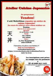 cours cuisine japonaise atelier cuisine japonaise namur quefaire be