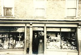 mr john freeman at his original shop at 54 high street ramsey
