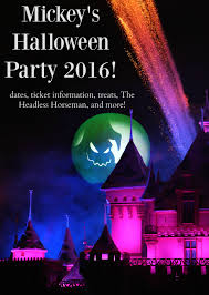 mickey u0027s halloween party dates and ticket information