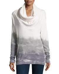 xcvi ombre tie dye slub knit sweater in white lyst