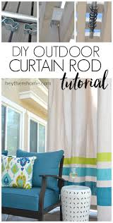 Putting Curtain Rods Up How To Make An Outdoor Curtain Rod For Very Little Money