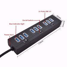 Usb Hub M Way 5v 2a Usb 3 0 Switch 10 Port Hub Power Socket Plug Eletrical