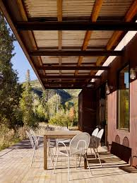 modern covered patio ideas patio modern with overhang metal roof