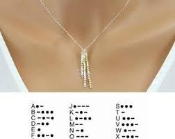 morse code necklace personalized morse code necklace custom secret code necklace personalized