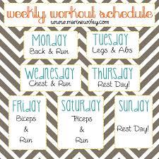 best 25 workout schedule ideas on pinterest weekly workout