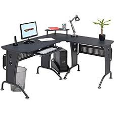 Console Gaming Desk Large Corner Computer And Gaming Desk Table With Keyboard Shelf
