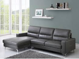 canap gris cuir canapé d angle en cuir de vachette gris ou noir flynn