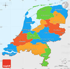 netherlands map political simple map of netherlands single color outside