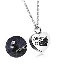 urn necklaces fashionable stainless steel heart necklace memorial cremation
