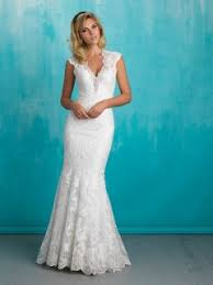 Wedding Dress Lace Sleeves Vintage Inspired Lace Cap Sleeve Scalloped Boat Neck Mermaid