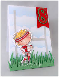 rugby player birthday card verybelle