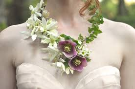 flower necklace wedding images Into the woods real flower necklace finch and thistle jpg