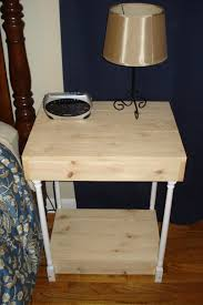 finished country style end table visual engineering