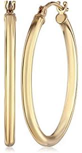 14k gold hoop earrings 14k yellow gold hoop earrings 2 diameter jewelry