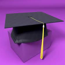 purple graduation cap graduation cap 3d cgtrader