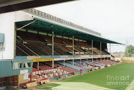West Ham Duvet Cover West Ham Upton Park West Stand 5 August 1994 Photograph By