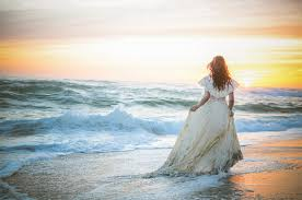 stunning bridal photography beach trash the dress with vintage