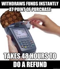 Meme Credit Card - scumbag credit card machine memes quickmeme