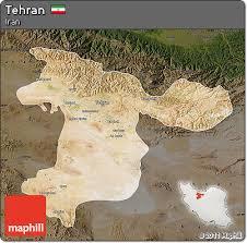tehran satellite map free satellite map of tehran darken