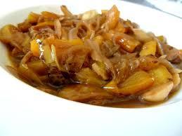 cuisiner poivron poivrons jaunes aux oignons recette de cuisine alcaline