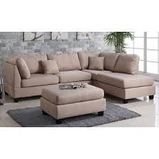 Sectional Sofa With Ottoman Pistoia 3 Pieces Sectional Sofa With Ottoman Upholstered In Fabric