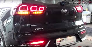 Custom Car Lights Led Tuning Is Really Popular In Korea Here U0027s A Custom Kia Niro