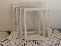 distressed white frame rustic 8 x 10 shabby chic wedding decor