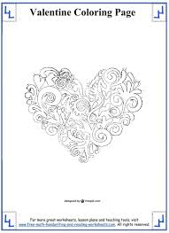 beauteous valentines day coloring pages math worksheets free 2nd