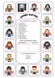 english teaching worksheets harry potter harry potter madness