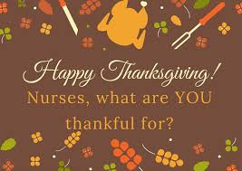 things nurses are thankful for this thanksgiving