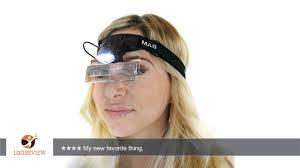 doctor headband dual lens magnifier glasses w led light 5 lens 1 0x 6 0x headband