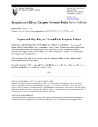 National Park Ranger Resume 2013 News Release Archives Sequoia U0026 Kings Canyon National Parks
