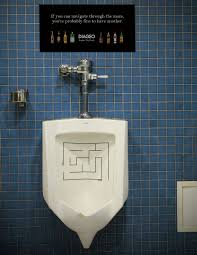 ad in urinal advertising pinterest toilet man bathroom and