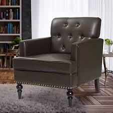 Leather Accent Chairs For Living Room Finnkarelia Accent Chair For Living Room Mid Century