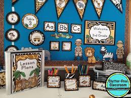 theme classroom decor jungle safari themed classroom ideas printable classroom