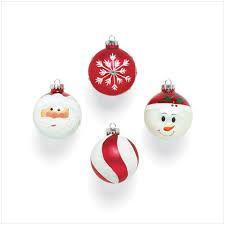 9 santa ornaments merry