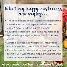 egg carton labels stamp chicken farmer gift egg carton