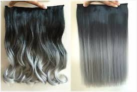 ombre clip in hair extensions 17 inches one synthetic balayage ombre clip in hair