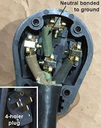 need 220vac electrical help change 4 prong outlet to 3 prong