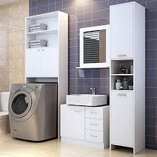 Bathroom Storage Cupboard Bathroom Cabinet Cupboard White Large Storage Shelf Home Bath