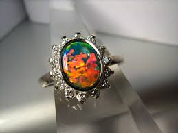 black opal engagement rings ridge black opal engagement ring pictures