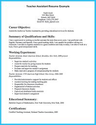 Example Resume For Teacher 100 Sample Resume Of A Teacher Assistant Best 25 Teacher