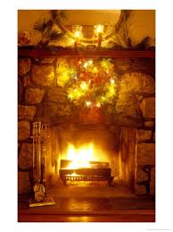 fireplace poster for