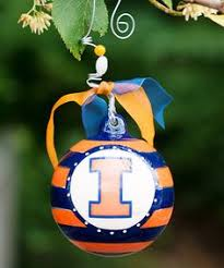 illinois illini snowman ornament