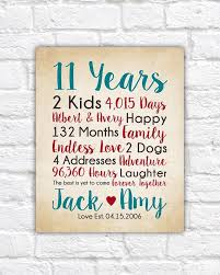 11th anniversary gifts for him 11th anniversary gifts choose any year countdown calculations