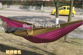 nylon parachute double hammock garden outdoor camping travel