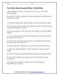 adverbs worksheets worksheets