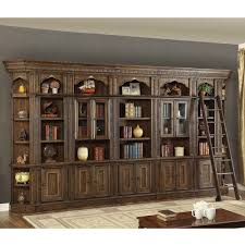 Bookcase With Ladder Parker House Ari 7pc Lbw Aria Library 7 Piece Bookcase Wall W