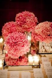Carnation Flower Ball Centerpiece by Ceramic Black Square Vase 5 Inch For Flower Centerpiece