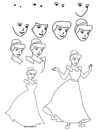 princess sketch step by step with picture easy cinderella princess